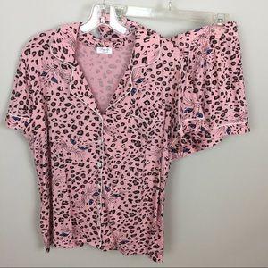 JOYARIA Super Soft Pink Pajama Bottom Set L